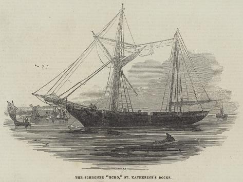 The Schooner Echo, St Katherine's Docks Stampa giclée