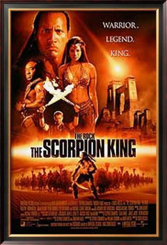 The Scorpion King Impressão artística emoldurada
