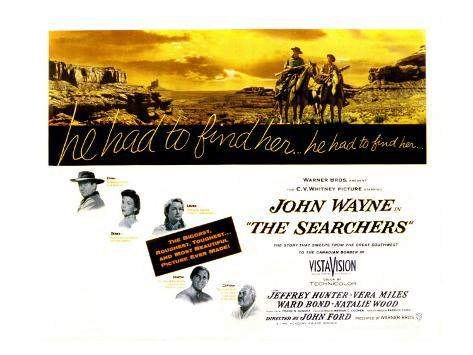The Searchers, John Wayne, Natalie Wood, Vera Miles, Jeffrey Hunter, Ward Bond, 1956 Photo