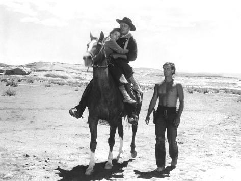 The Searchers, Natalie Wood, John Wayne, Jeffrey Hunter, 1956 Photo