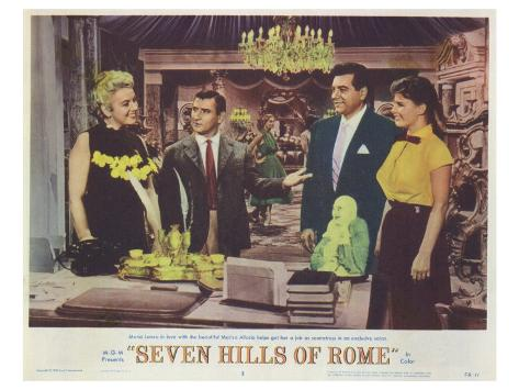 The Seven Hills of Rome, 1958 Stretched Canvas Print