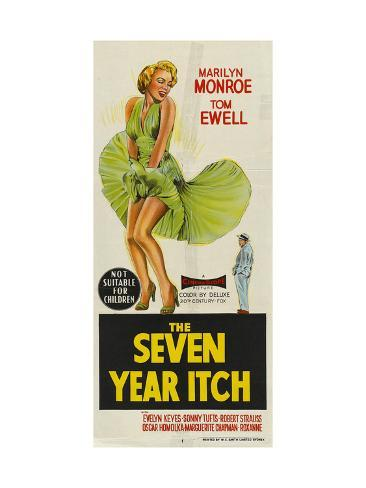 The Seven Year Itch, Australian Movie Poster, 1955 Art Print