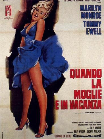 The Seven Year Itch, Italian Movie Poster, 1955 Art Print