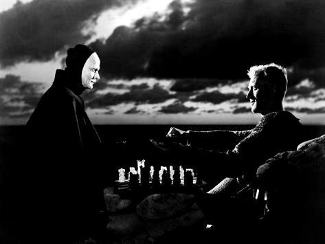 The Seventh Seal, Bengt Ekerot, Max Von Sydow, 1957 Fotografia