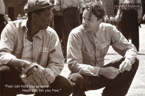 The Shawshank Redemption Movie (Tim Robbins and Morgan Freeman, B&W) Poster Print Poster