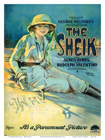 The Sheik - Motion Picture Starring Agnes Ayres and Rudolph Valentino Art Print