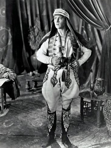 THE SHEIK, Rudolph Valentino, 1921 Impressão artística