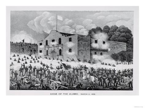 The Siege of the Alamo, 6th March 1836, from Texas, an Epitome of Texas History, 1897 Giclee Print