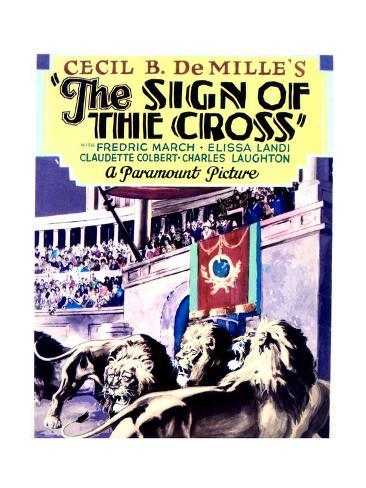 The Sign of the Cross - Movie Poster Reproduction Art Print