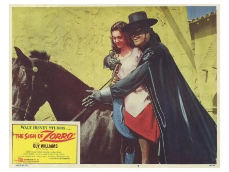 The Sign of Zorro, 1960 Konstprint