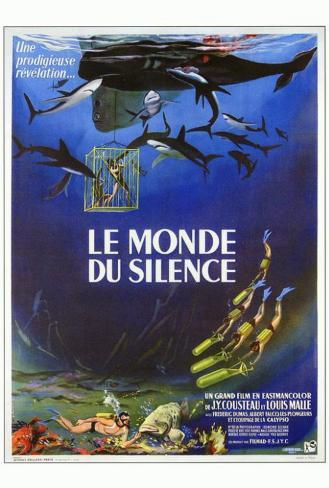 The Silent World - French Style Poster