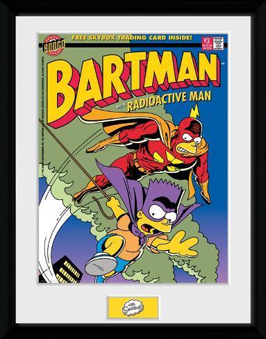 The Simpsons- Bartman Meets Radioactiveman Collector Print