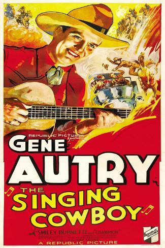 THE SINGING COWBOY, Gene Autry, 1936 Art Print