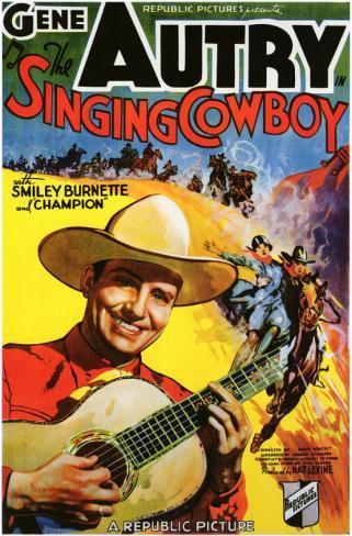The Singing Cowboy Masterprint