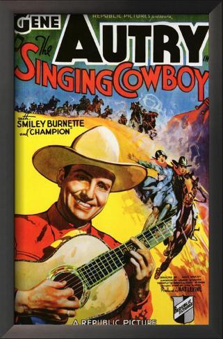 The Singing Cowboy Impressão artística emoldurada