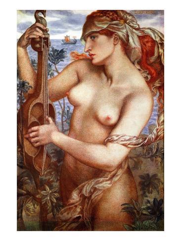 The Siren Mermaid Ligeia Giclee Print