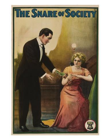 The Snare Of Society - 1911 Giclee Print