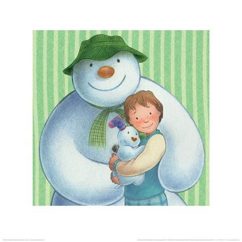 The Snowman and the Snowdog (Group Pattern) Art Print