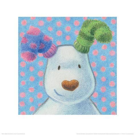 The Snowman and the Snowdog (Snowdog Pattern) Art Print