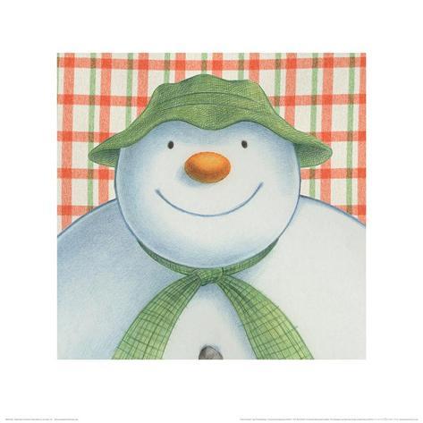 The Snowman and the Snowdog (Snowman Pattern) Art Print