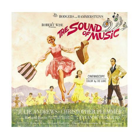 The Sound of Music, from Left: Julie Andrews, Christopher Plummer, 1965 Impressão giclée