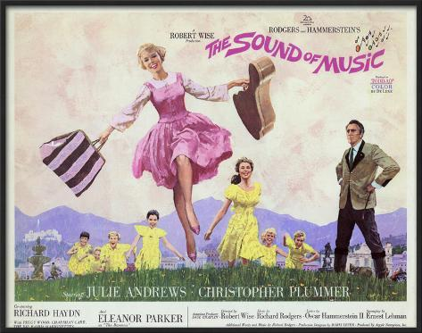 The Sound of Music -  Style Framed Poster