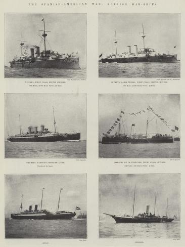The Spanish-American War, Spanish War-Ships Giclee Print