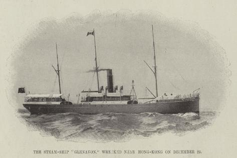 The Steam-Ship Glenavon, Wrecked Near Hong-Kong on 29 December Giclee Print