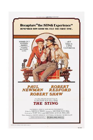 The Sting, from Left: Robert Redford, Paul Newman, 1973 Impressão giclée