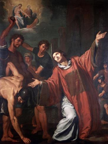 The Stoning of St Stephen Lámina giclée