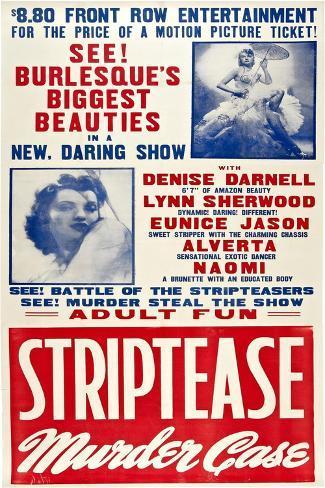 The Striptease Murder Case Art Print