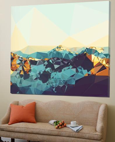 Fractal Mountain Sunset Loft Art