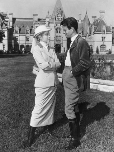 The Swan, from Left: Grace Kelly, Louis Jourdan, 1956 Photo