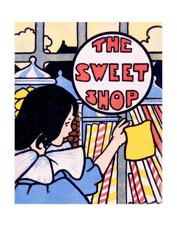 The Sweet Shop Candy Store Giclee Print