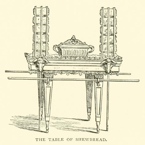 The Table of Shewbread Lámina giclée