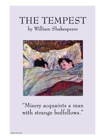 The Tempest - Strange Bedfellows Stretched Canvas Print