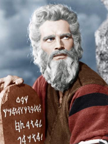 The Ten Commandment's, Charlton Heston, 1956 Foto