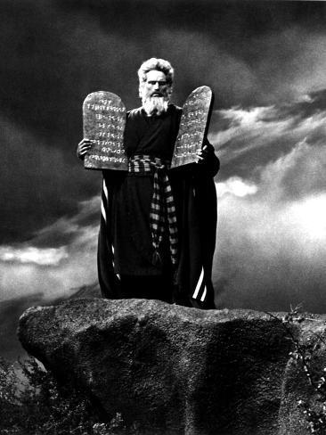 The Ten Commandments,Charlton Heston, 1956 Photo