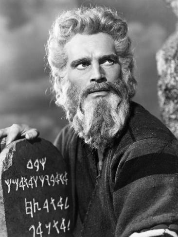 The Ten Commandments, Charlton Heston, 1956 写真