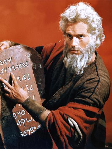 The Ten Commandments, Charlton Heston, 1956 Photo