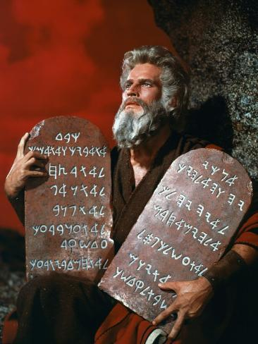 The Ten Commandments, Charlton Heston, 1956 Photo