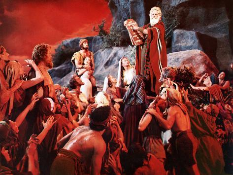 The Ten Commandments, John Derek, Debra Paget, Yvonne De Carlo, Charlton Heston, 1956 Photo