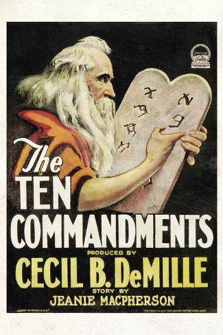 The Ten Commandments Movie Cecil B DeMille Poster Print Poster