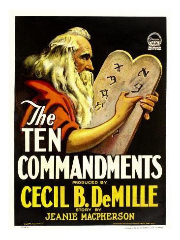The Ten Commandments, Theodore Roberts, 1923 Photo