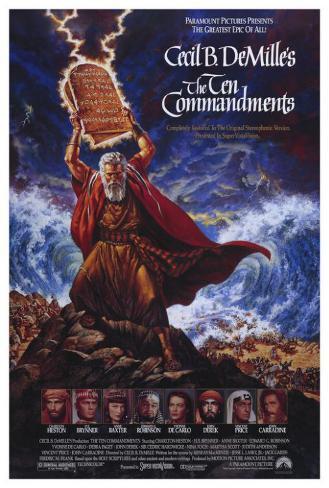 The Ten Commandments Pôster