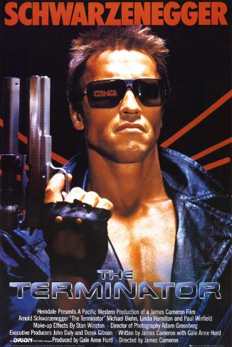 The Terminator Mounted Print