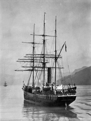 The Terra Nova sailed by Scott, in Antarctic waters, 1910 Giclee Print