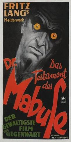 The Testament of Dr. Mabuse - German Style ポスター