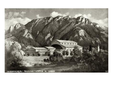 The Theatre at Oberammergau, 1930 Giclee Print