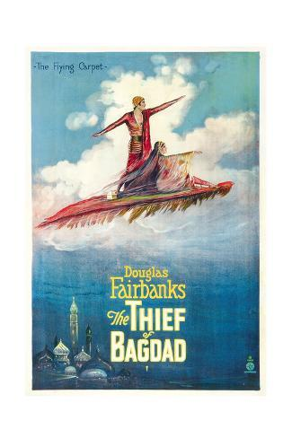 THE THIEF OF BAGDAD,  Douglas Fairbanks, Sr., Julanne Johnson, 1924 Stretched Canvas Print